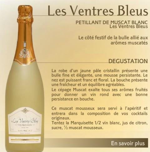 Les Ventres Bleus Frontignan - originele 'blauwe buiken' Denim
