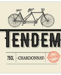 label Tendem Chardonnay - huismerk VinoPura