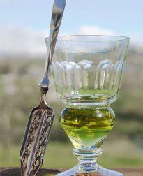 Absint glas & suikerlepel - bij VinoPura