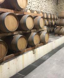 wijnvaten met Coquelicot wijn Bruno Andreu bij Vinopura