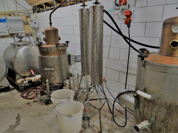 Wijngaard Dassemus - distilleerderij