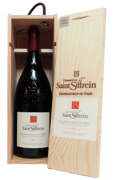 Chateauneuf du pape wijn in kist