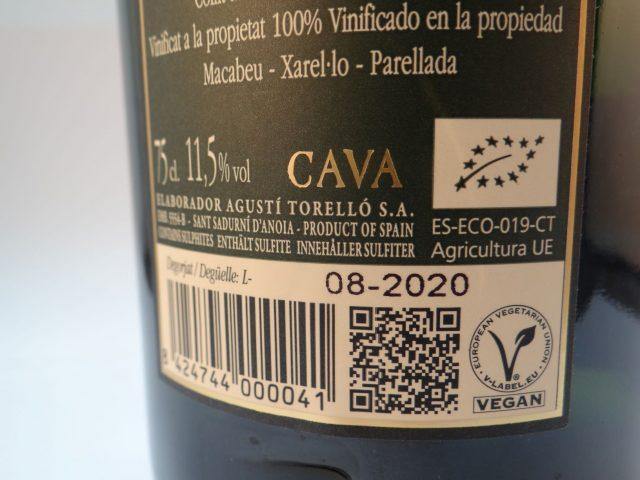 Cava Agusti 75cl label detail