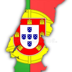 Portugal vlag-kaart
