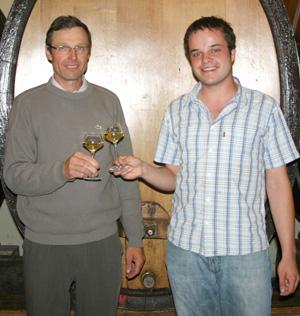 Armand en Arnaud Baur biologische wijnmakers uit Elzas bij VinoPUra